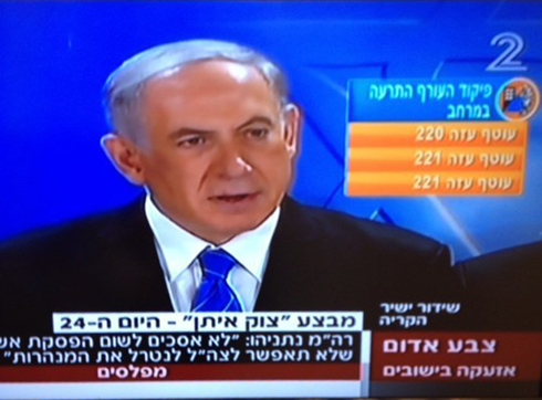 Code Red siren blares 6 times during Netanyahu's comments.