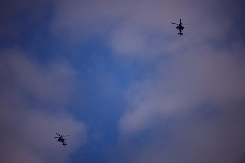 IAF hover over Gaza amid collapse of ceasefire (Photo: Avi Rokach)