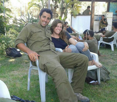 לירן עם אשתו סלעית. התחתנו לפני כחודש ()