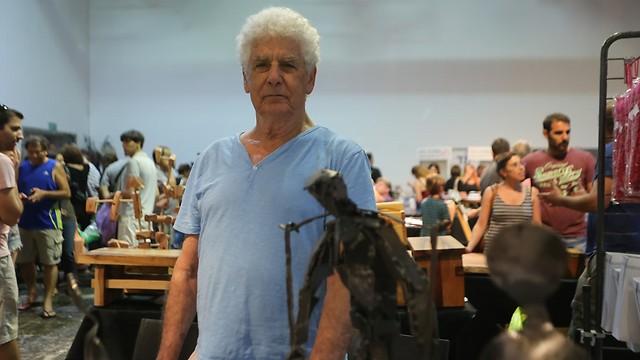 אמנון גולץ, הנפח מקיבוץ רוחמה (צילום: ירון ברנר) (צילום: ירון ברנר)