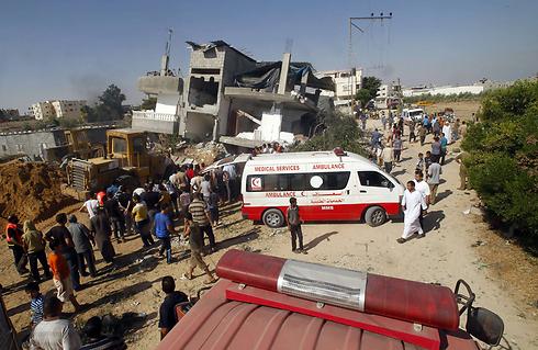 """רפיח לאחר תקיפות צה""""ל (צילום: AFP) (צילום: AFP)"""