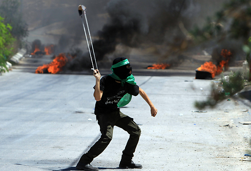 Palestinian riots in the West Bank (Photo: AFP)
