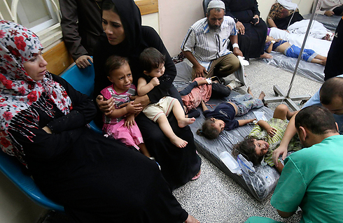 Wounded Palestinian children in Rafah after IDF bombardment (Photo: Reuters)