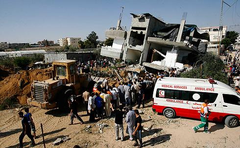 Destruction in Gaza following IDF bombing in Rafah (Photo: MCT)