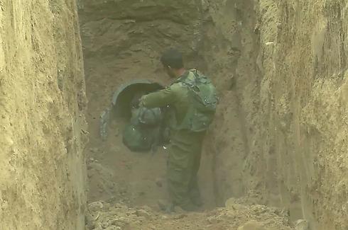 """מנהרת חמאס נחשפה בצוק איתן  (צילום: דובר צה""""ל) (צילום: דובר צה"""