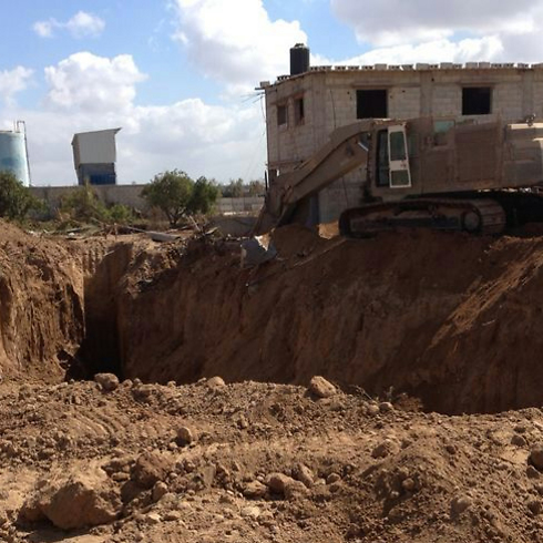 One of the tunnels found during the operation (Photo: IDF Spokesman's Office)