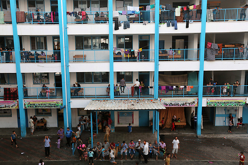 UN school in Gaza (Photo: EPA) (Photo: EPA)