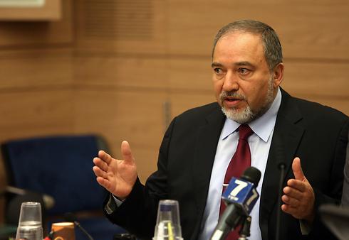 Foreign Minister Avigdor Lieberman: 'No demilitarization in Gaza'. (Photo: Gil Yochanon) (Photo: Gil Yochanon)