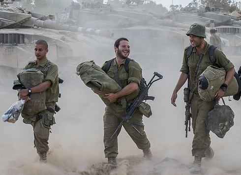 IDF troops leaving Gaza (Photo: AFP)