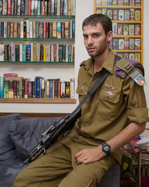 Lt. Eitan ran alone through a Gazan smuggling tunnel when Hadar Goldin was taken captive. (Photo: Ohad Zwigenberg) (Photo: Ohad Zoigenberg)