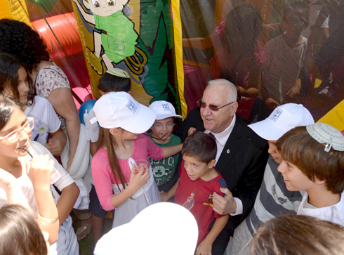 """יום כיף עם נשיא המדינה ריבלין (צילום: מארק ניימן /לע""""מ) (צילום: מארק ניימן /לע"""