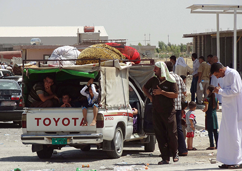 Kurds escape Erbil (Photo: AFP) (Photo: AFP)