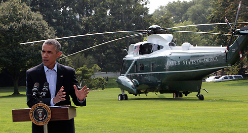 President Barack Obama speaking Saturday on the expanding crisis in Iraq. (Photo: EPA) (Photo: EPA)