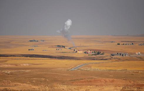 אזור הקרבות בין כורדים לאנשי דאעש (צילום: רויטרס) (צילום: רויטרס)