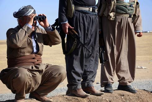 """מקבלים סיוע מארה""""ב. כוחות הביטחון הכורדיים, ה""""פשמרגה"""" (צילום: AFP) (צילום: AFP)"""