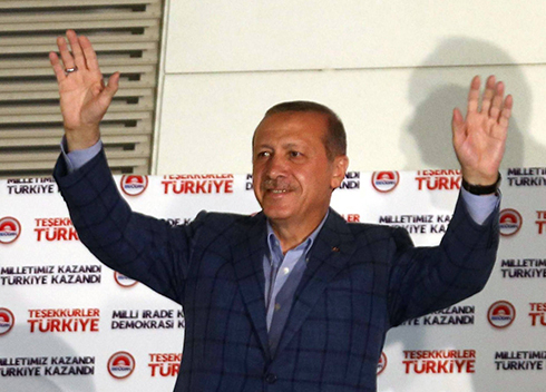 Erdogan celebrates presidential win (Photo: AFP)