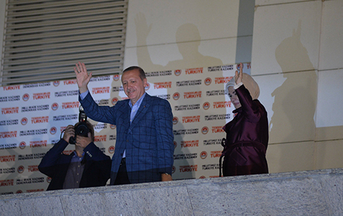 Erdogan in victory speech after presidential win (Photo: MCT)