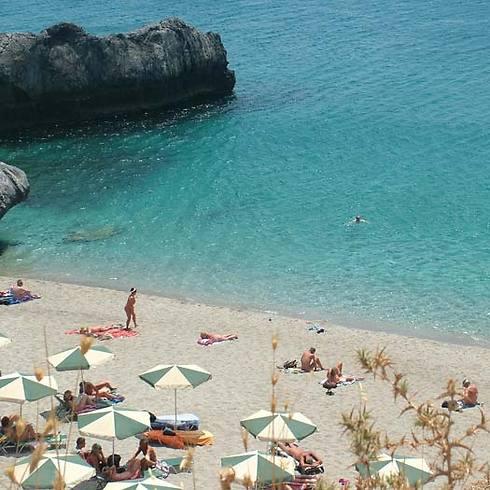 חוף נודיסטים בכרתים, יוון (צילום: שלומית שרביט) (צילום: שלומית שרביט)
