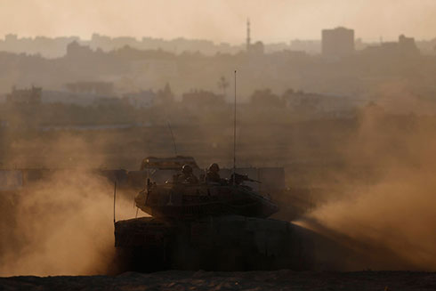 IDF tank on Gaza border (Archive photo: Reuters) (Photo: Reuters)