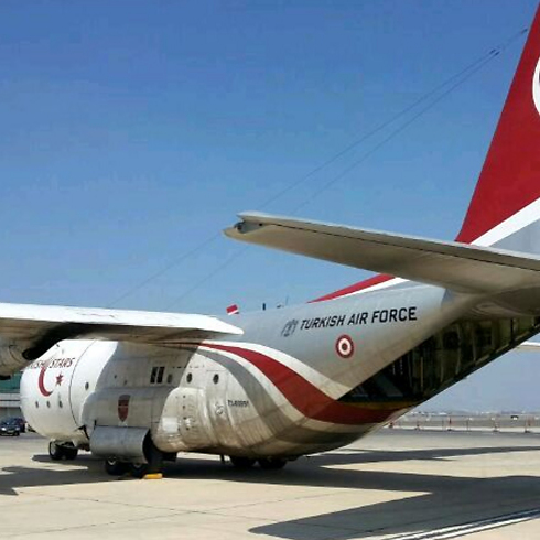 Turkish Air Force plane at Ben Gurion Airport (Photo: IAA)