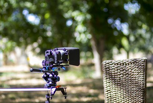 ה-GH4 מורכבת על מתקן במהלך הצילומים (צילום: ניב פרנקה) (צילום: ניב פרנקה)
