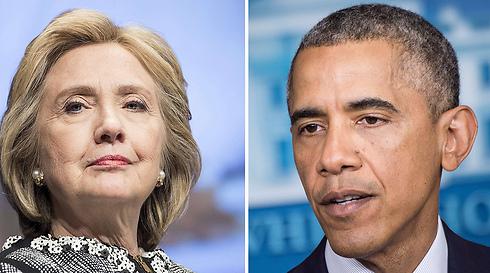 לא רוצה לפגוע ביחסיה עם אובמה. קלינטון (צילום: AFP) (צילום: AFP)