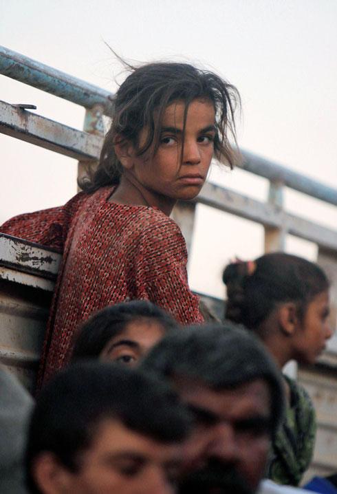 ילדה יזידית שנעקרה כמו רבבות אחרים מביתה (צילום: רויטרס) (צילום: רויטרס)