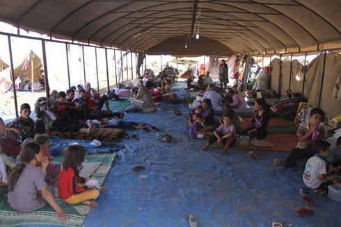 מחנה פליטים של יזידים (צילום: AFP ) (צילום: AFP )