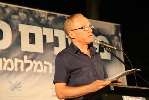 מה שחייב להשתנות זה רוח הדברים. גרוסמן נאם בפני אלפים  (צילום: מוטי קמחי) (צילום: מוטי קמחי)