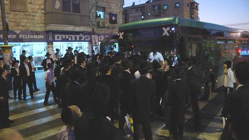 ההפגנה בירושלים, הערב (צילום: אלי מנדלבאום)