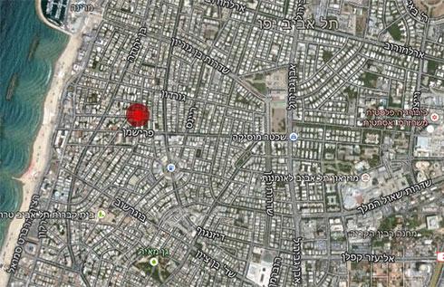 הרחוב שבו אותר אילן בן עמי  (צילום: Google Maps) (צילום: Google Maps)