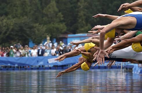 טריאתלון. הספורטאים דורשים לשנות את מועד התחרות בתל אביב בחודש מאי (צילום: רויטרס)