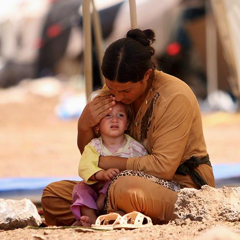 פליטים יזידים בעיראק (צילום: רויטרס) (צילום: רויטרס)