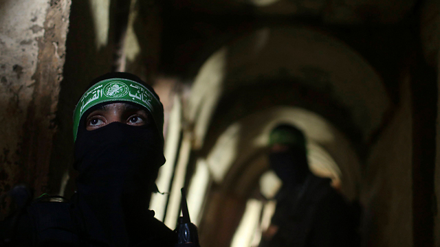 Hamas militants in a tunnel in Gaza. (Photo: Reuters) (Photo: Reuters)