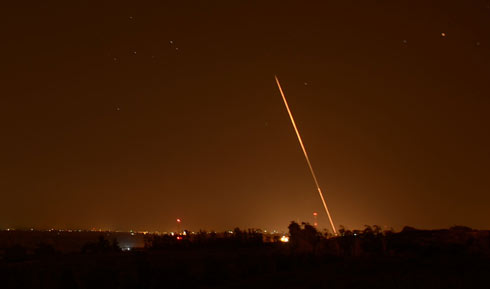 Rocket launched from the Gaza Strip at Israel (Photo: Avi Rokach)
