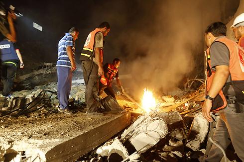 הבית שהופצץ בשכונת שייח רדואן  (צילום: AFP) (צילום: AFP)