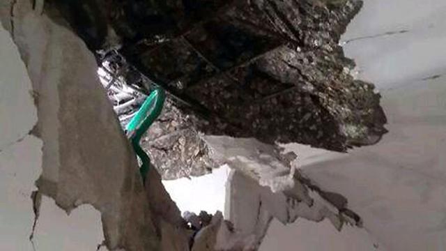 Damage caused to Eshkol home (Photo: Diti Horwitz)
