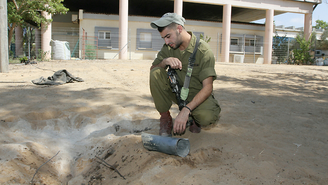Rocket hits 12 meters from preschool (Photo: Ido Erez)