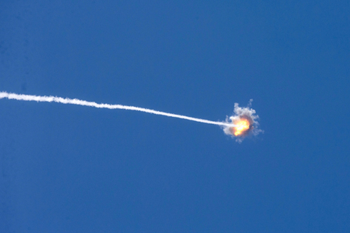 Iron Dome missile intercepts rocket fired from Gaza during Operation Protective Edge (Photo: AFP) (Photo: AFP)