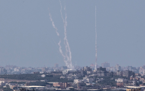 Rocket fired at Israel from Gaza Strip (Photo: AFP) (Photo: AFP)