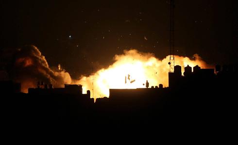 IAF strike on Gaza on Friday night (Photo: EPA) (Photo: EPA)