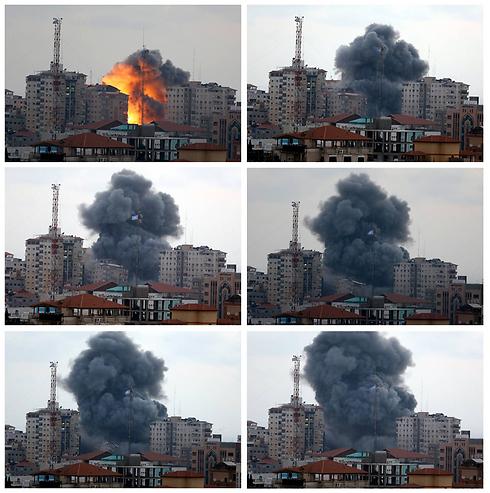 הפצצת מגדל הניצחון, שנייה אחרי שנייה (צילום: AP) (צילום: AP)