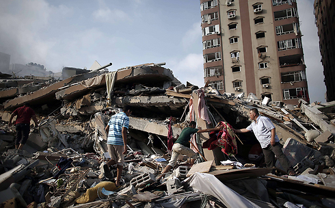 Destruction caused to building in Gaza hit in IAF attack (Photo: AFP)
