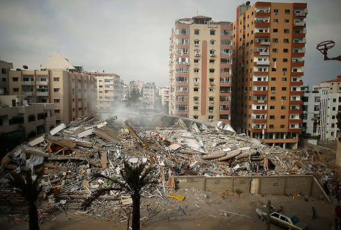 Destruction caused to building in Gaza hit in IAF attack (Photo: Reuters)