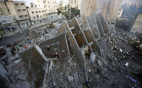 The ruins of a building in Gaza Strip during Operation Protective Edge (Photo: AFP)