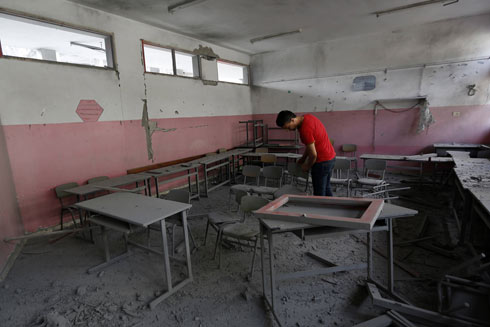 After 50 days of fighting left many scenes of destruction in Gaza like the school shown above, humanitarian aid has begun flowing into the Gaza Strip. (Photo: AFP) (Photo: AFP)