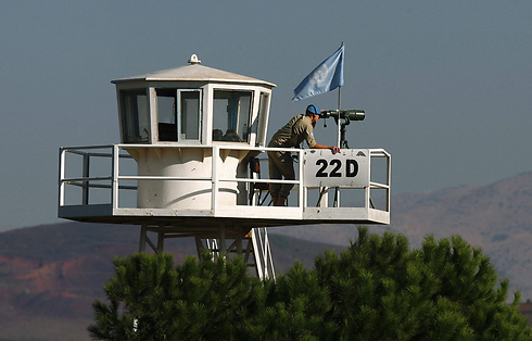 UN troops at an observation post along the Israel-Syria border. (Photo: EPA) (Photo: EPA)