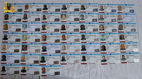 Personnel tags of detained UN force