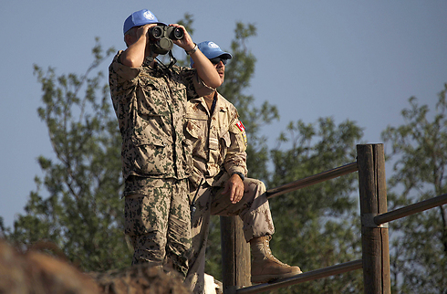 UN peacekeepers on Golan Heights (Photo: AFP)