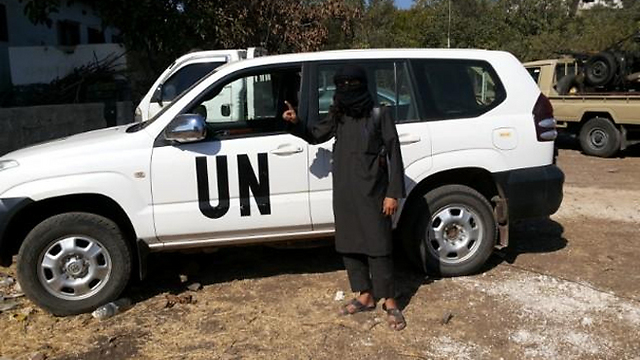 UN car used for Nusra missions